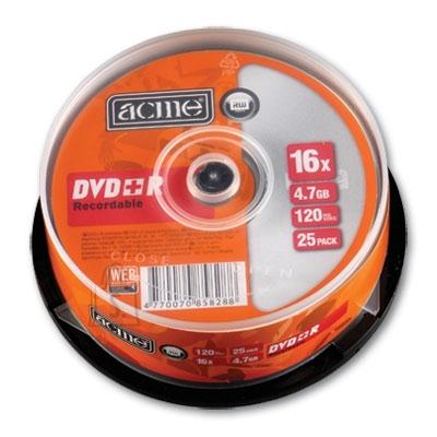 ACME DVD+R Acme 4,7GB 16x 25tk tornis