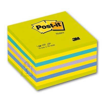 Post-It Märkmekuup 3M Post-it 76x76 Lollipop 450L, neoonroheline