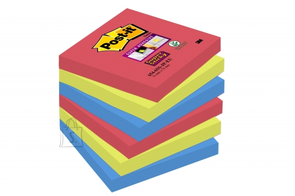 Post-It Märkmepaber 3M Post-it Super Sticky 76x76mm Bora Bora 6tk/pk (P)