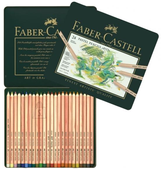 Faber-Castell Pastellpliiatsid Faber-Castell Pitt Pastel 24-värvi metallkarp (P)