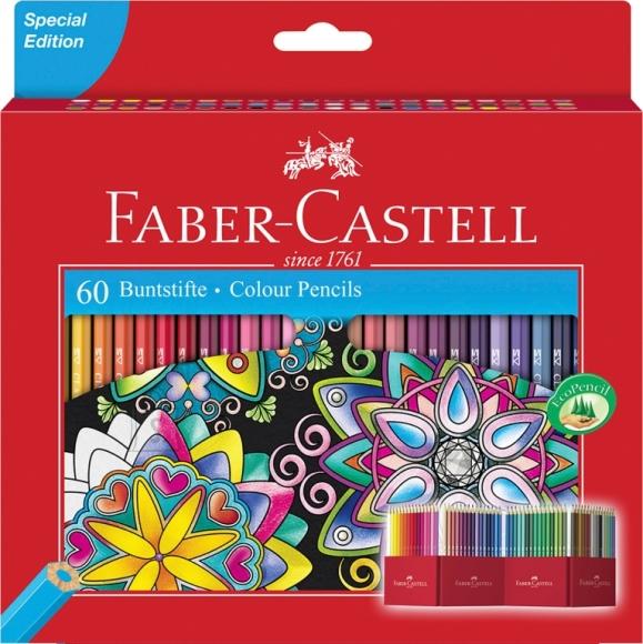 Faber-Castell Värvipliiatsid Faber-Castell Castle 60-värvi (P)
