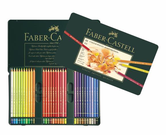 Faber-Castell Kunstniku värvipliiatsid Faber-Castell Polychromos, 60-värvi (P)