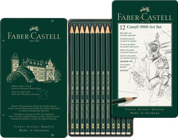 Faber-Castell Harilik pliiats Faber-Castell 9000 8B-2H 12tk komplektis