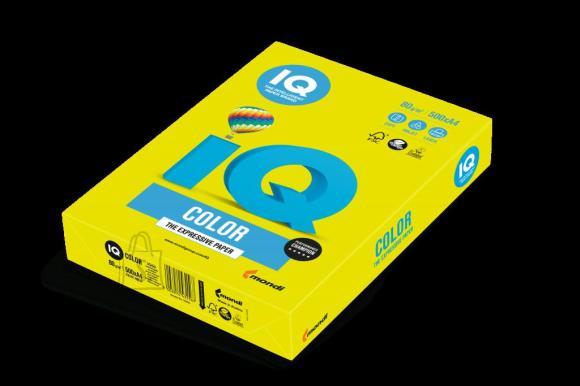 Koopiapaber IQ A4/80g/500L NEOGB neoonkollane