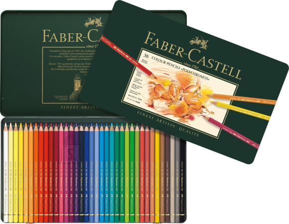 Faber-Castell Kunstniku värvipliiatsid Faber-Castell Polychromos, 36-värvi