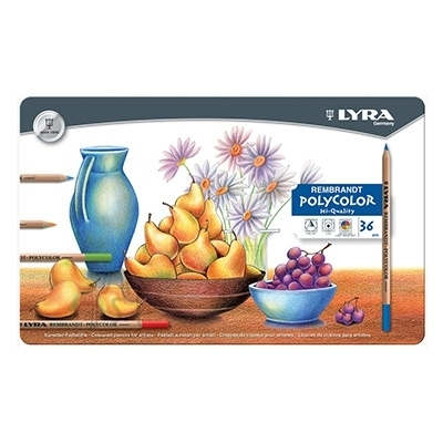 Lyra Kunstniku värvipliiatsid Lyra Rembrandt Polycolor 36-värvi (P)