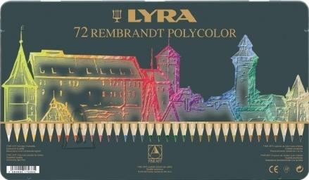 Lyra Kunstniku värvipliiatsid Lyra Rembrandt Polycolor 72-värvi (P)
