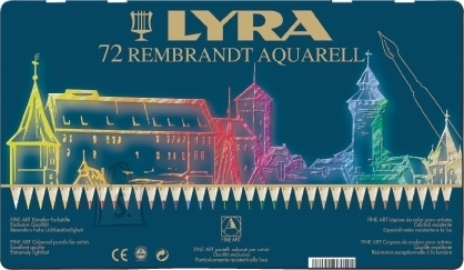 Lyra Akvarell-kunstipliiatsid LYRA Rembrandt 72 värvi (P)
