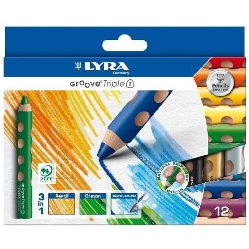 Lyra Värvipliiatsid Lyra Groove Triple One 12-värvi