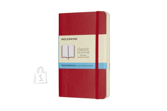 Märkmik Moleskine Classic 9x14cm, valge, pehmed kaaned, punane