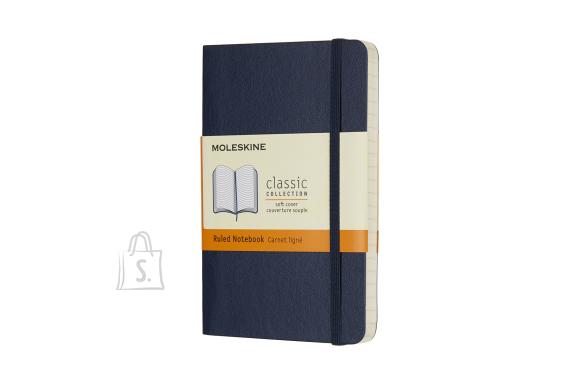 Märkmik Moleskine Classic 13x21cm, valge, pehmed kaaned, sinine