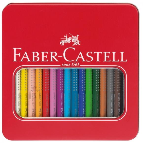 Faber-Castell Värvipliiats Faber-Castell Jumbo Grip 10-värvi neon+metallik värvid metallkarbis