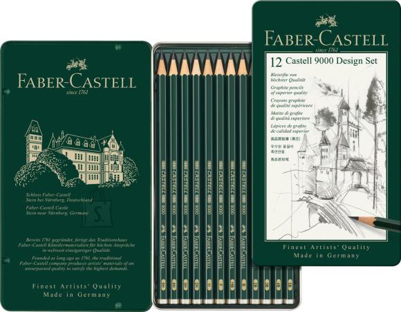 Faber-Castell Harilik pliiats Faber-Castell 9000 5B-5H 12tk komplektis