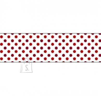Folia Washi-Tape Folia 26015 15mmx10m punased täpid valge peal