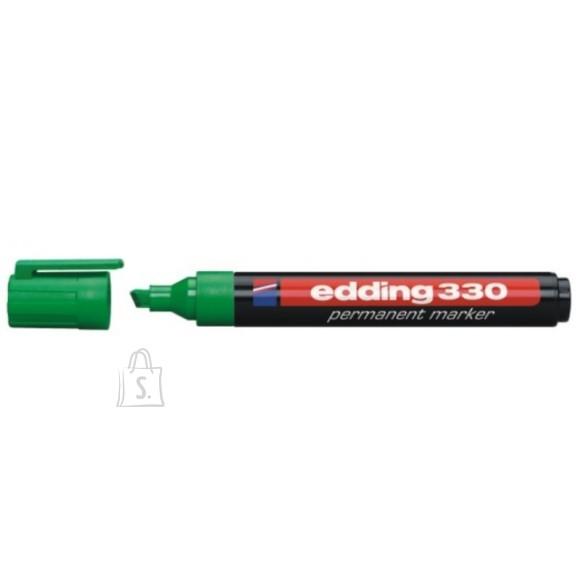 edding Permanentne marker Edding 330 A8, 1-5mm, lõigatud ots roheline