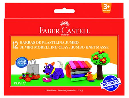 Faber-Castell Plastiliin Faber-Castell Jumbo 12-värvi