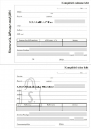 Garisson Blankett Sularahaarve/ Kassa sissetuleku order A6 2x50, isekopeeruv; GR