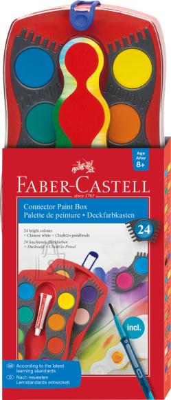 Faber-Castell Vesivärvid Faber-Castell 24-värvi pintsliga