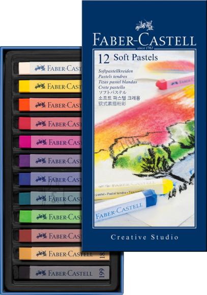 Faber-Castell Pastellkriidid Faber-Castell Gofa 12-värvi