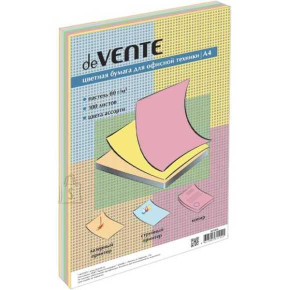 Koopiapaber värviline deVENTE A4/100L 5 värvi pastelsed värvid