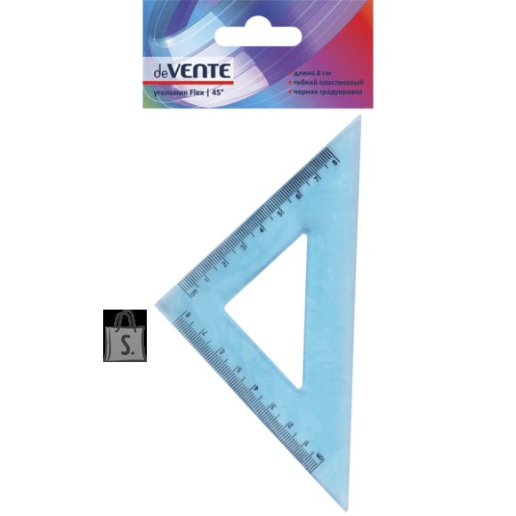 Kolmnurk deVENTE Flex 45° 8cm painduv läbipaistev sinine