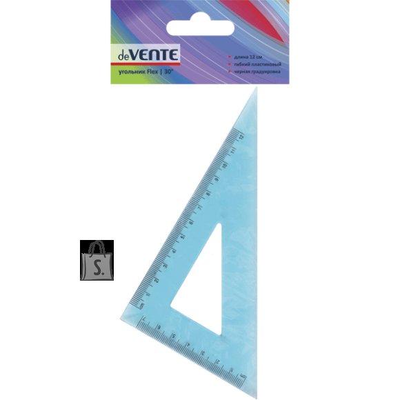 Kolmnurk deVENTE Flex 30° 12cm painduv läbipaistev sinine