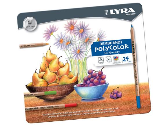 Lyra Kunstniku värvipliiatsid Lyra Rembrandt Polycolor 24-värvi (P)