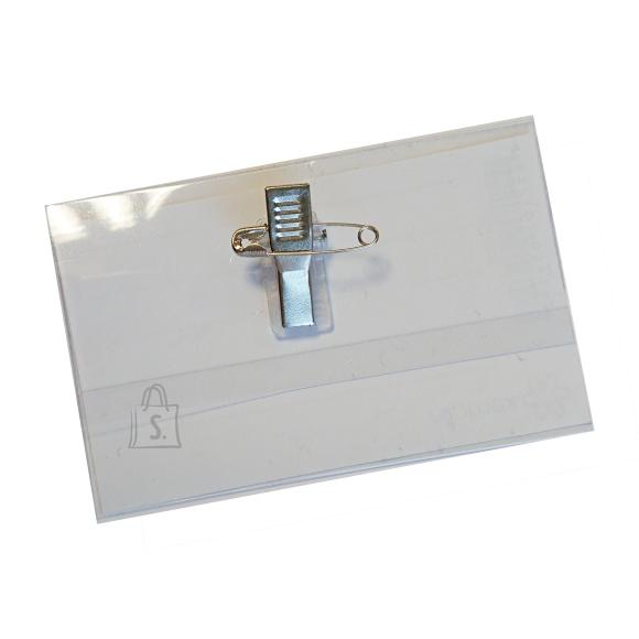 Nimesildihoidja Attomex 60x90mm haaknõel+klõps, 200mic
