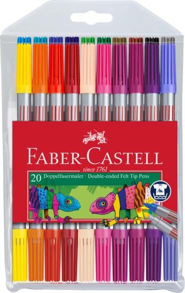 Faber-Castell Viltpliiatsid Faber-Castell 2-otsaga 20-värvi