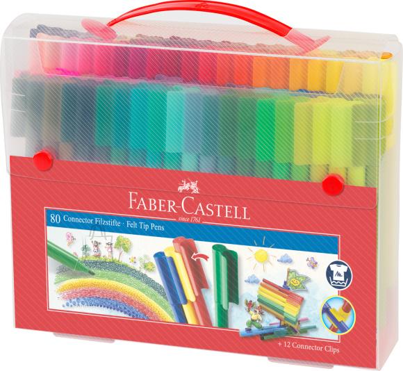 Faber-Castell Viltpliiatsid Faber-Castell 80-värvi