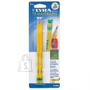 Lyra *Harilik pliiats Lyra Temagraph H 2tk+teritaja blistris (P)