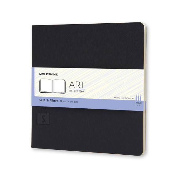 Märkmik Moleskine Sketch Album 19x19cm, valge, pehmed kaaned, must