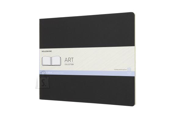Märkmik Moleskine Sketch album A4, valge, pehmed kaaned, must