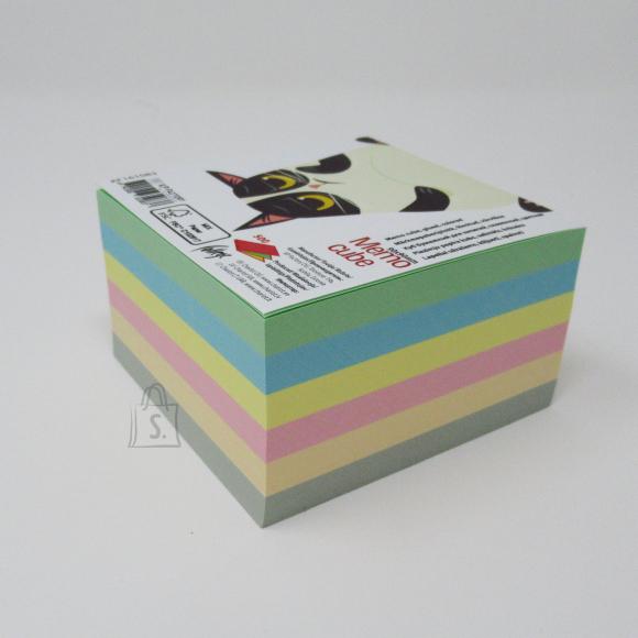College Märkmekuup KPF College 90x90 500lehte, värviline, liimitud 1 külg