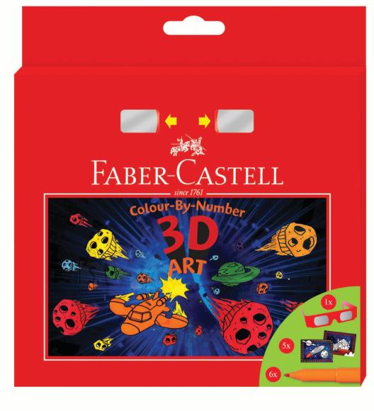 Faber-Castell *Viltpliiatsid Faber-Castell 3D komplekt 6-värvi