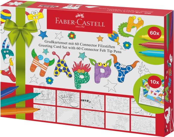 Faber-Castell Kinkekomplekt Faber-Castell Postkaardid 60-viltpliiatsit