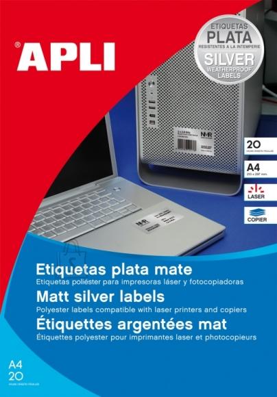 Etiketid Apli 1228 210x297mm A4/20L ilmastikukindel valge