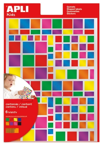 Markeerimispunktid Apli ruudud erisuurused metallic värvid