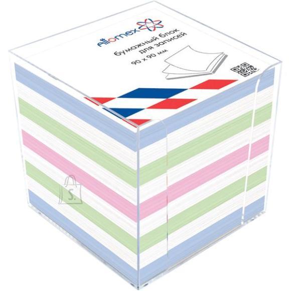 Märkmekuup Attomex 9x9x9cm värviline + hoidja
