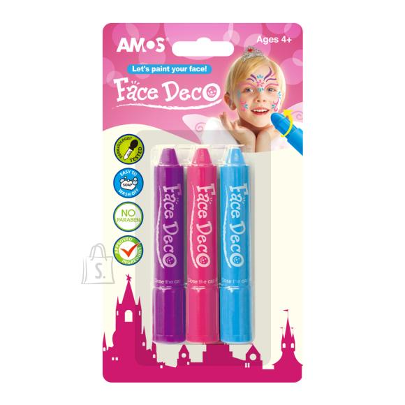 Amos Näovärvid Amos 3-värvi tüdrukud