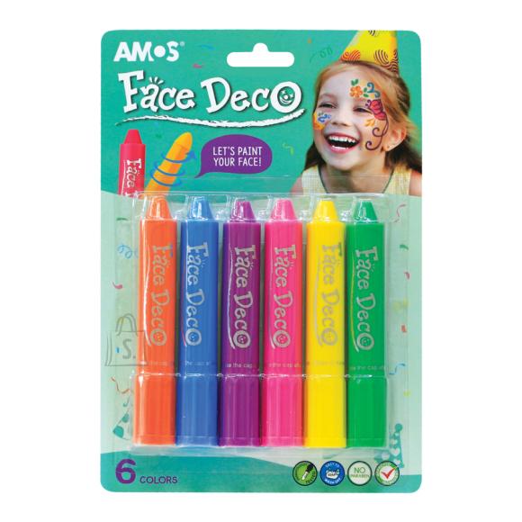 Amos Näovärvid Amos 6-värvi tüdrukud