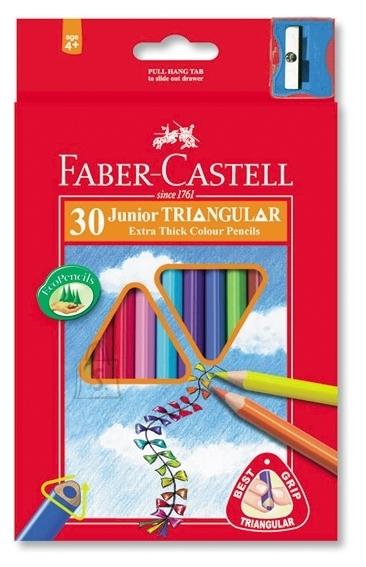 Faber-Castell Värvipliiatsid Faber-Castell Jumbo 30-värvi kolmetahulised + teritaja