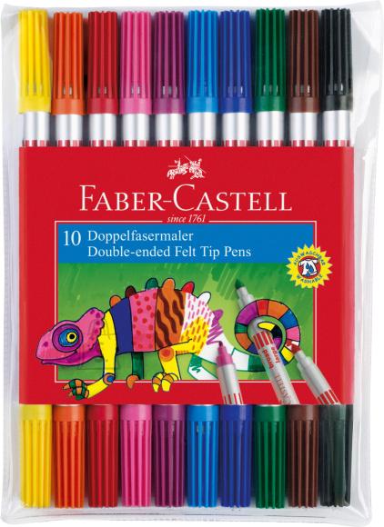 Faber-Castell Viltpliiatsid Faber-Castell 2-otsaga 10-värvi