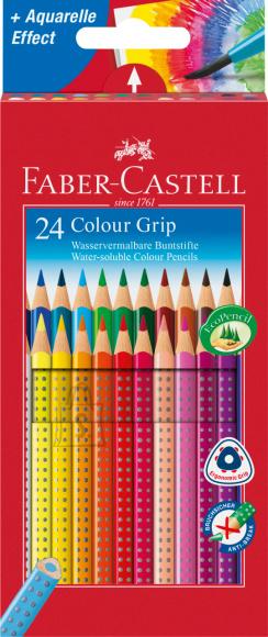 Faber-Castell Värvipliiatsid Faber-Castell Colour Grip 24-värvi