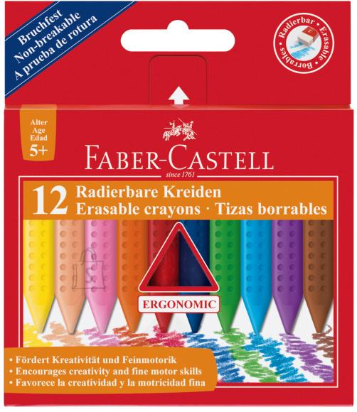 Faber-Castell Rasvakriidid Faber-Castell Grip kolmekandilised 12-värvi