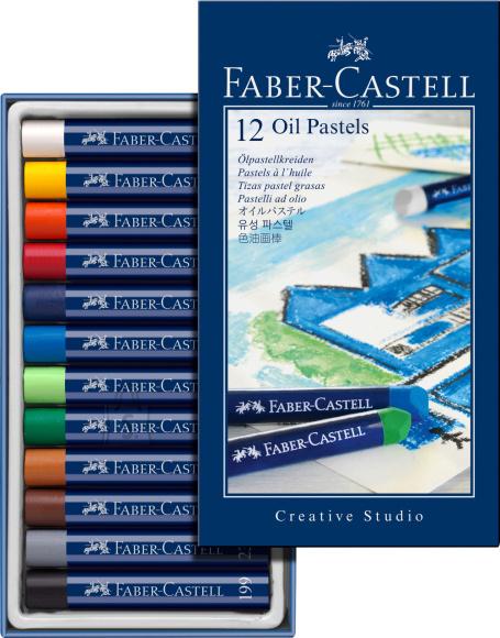 Faber-Castell Õlipastellid Faber-Castell Gofa Creative Studio 12-värvi