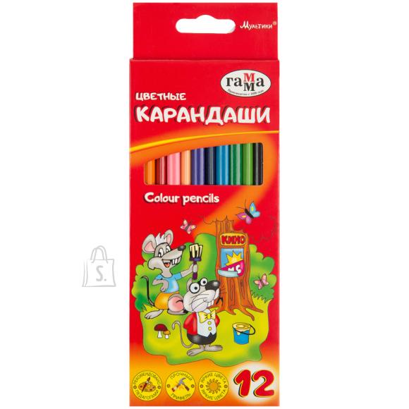 Gamma Värvipliiatsid Gamma Multikad 12-värvi kolmetahulised