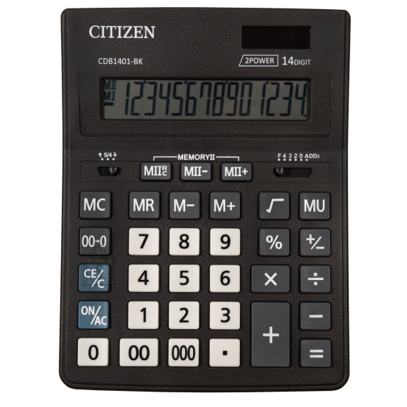 Citizen Lauakalkulaator Citizen Business line CDB1401BK