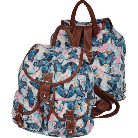 *Seljakott deVENTE Butterfly 34x32x18cm, veekindel tekstiil