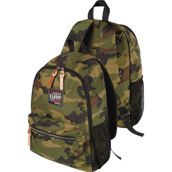 *Seljakott deVENTE Camouflage 40x29x13cm, tekstiil, must tumerohelisega